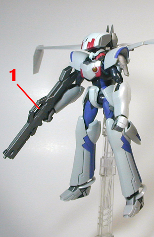 Macross Frontier EX-Gear Armament weapon position