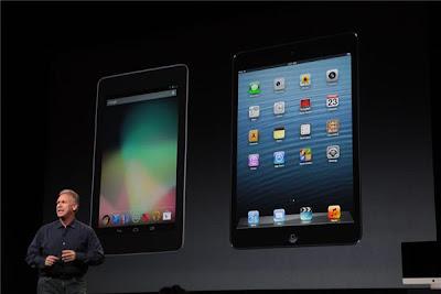 Appleの行ったiPad miniとNexus7との比較