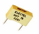 radial mount polyester capacitor, πολυεστερικός καρφωτός πυκνωτής