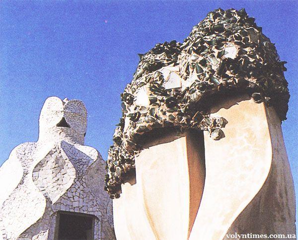 А.Гауді «Дім Міла. Каменоломня» (1905-1910).