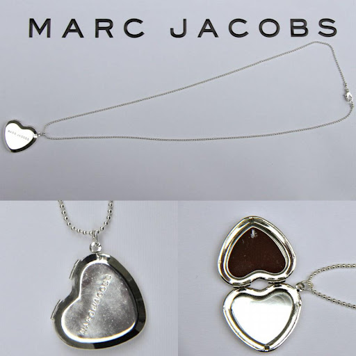 Marc by Marc Jacobs Heart Locket Silver Necklace