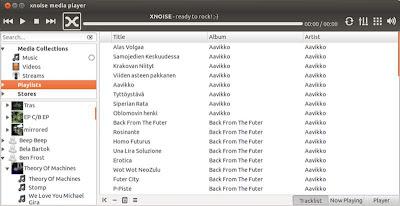 Xnoise, reproductor de audio y video