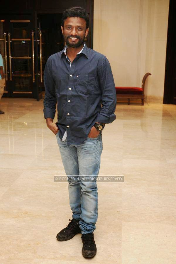 Pandiraj during the birthday celebration, held at The Leela Palace, in Chennai.<br />