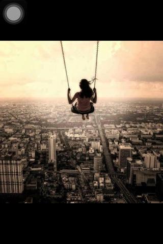 girl on swing above - photo #4