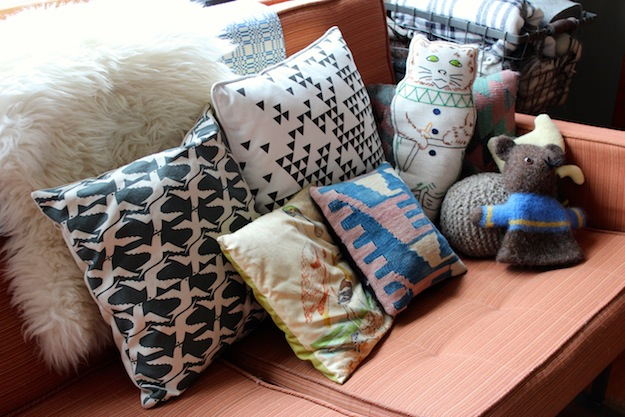 handmade pillows and plushies in ladies and gentlemen and R&L goods Jean Lee's home