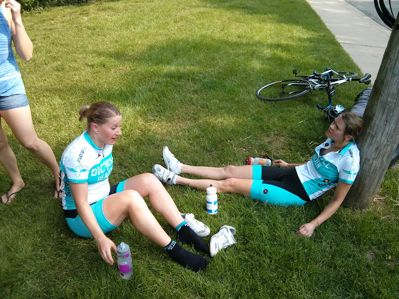 Ashley and Mara after the Elgin Crit