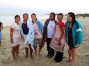 Here's the group of all the girls who were baptized that day, as well as the two women who baptized them.