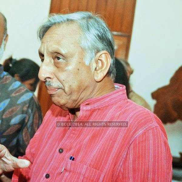 Mani Shankar Aiyar during pre-show cocktail for Manish Arora's couture show at the French Embassy in Delhi.