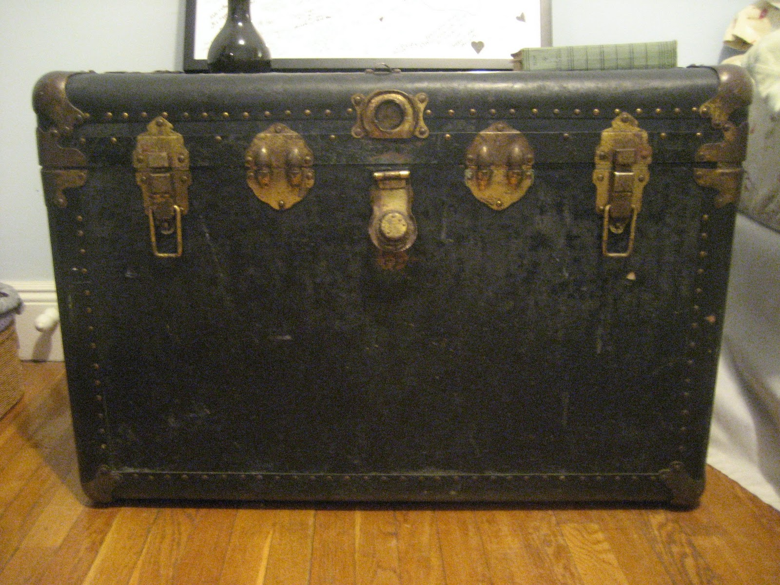 Lining For An Old Steamer Trunk