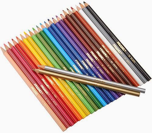 Bút chì Crayola (loại dài) gồm 24 màu sinh động phong phú