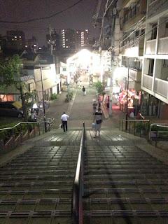 谷中銀座商店街階段上から撮影