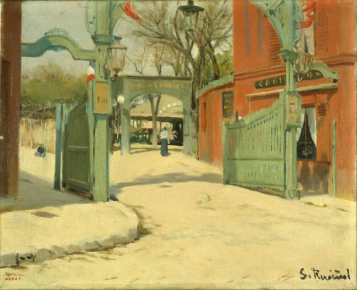 Santiago Rusiñol - Entrance to the Park of the Moulin de la Galette
