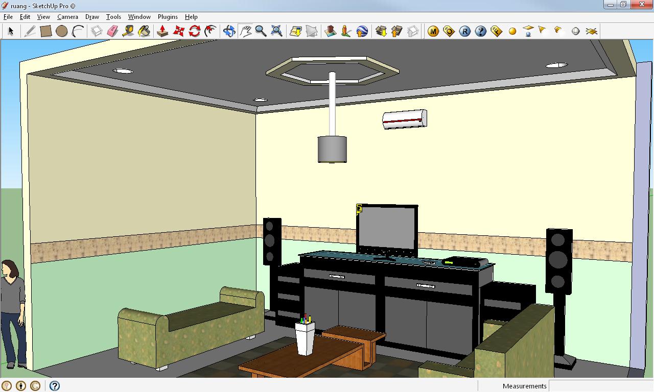 tips and trick 3d rendering pada google sketchup. Black Bedroom Furniture Sets. Home Design Ideas