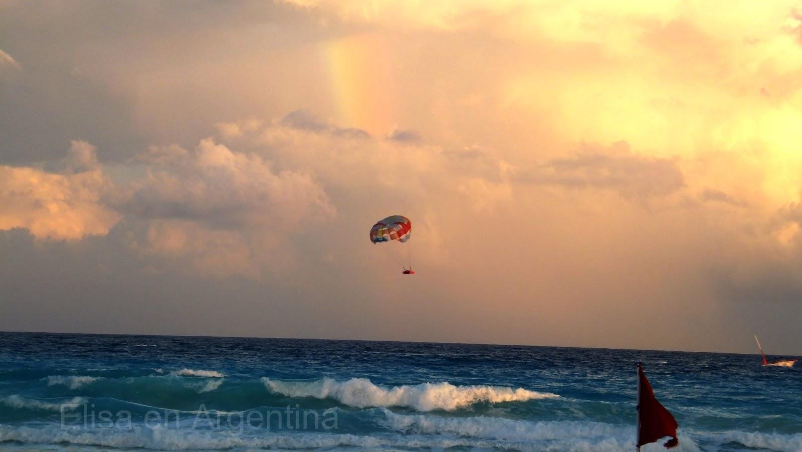 Arco iris sobre el mar, Akumal, México, Riviera Maya, Elisa N, Blog de Viajes, Lifestyle, Travel