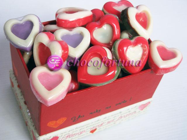 Cokelat coklat hati valentine Praline Love 2 Tone