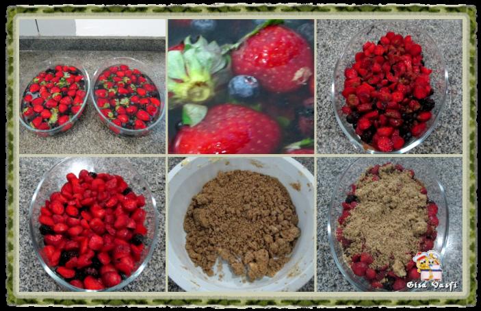Crumble de frutas vermelhas da Beatriz 3