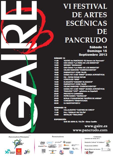 Cartel VI Festival Gaire 2013