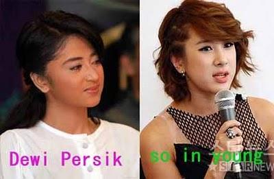 Dewi Persik dengan so in young