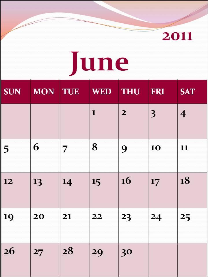 june july calendar 2011 - photo #22