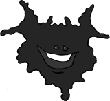 TheBlotSays.com Ink Blot Mascot by Vanessa Ramirez