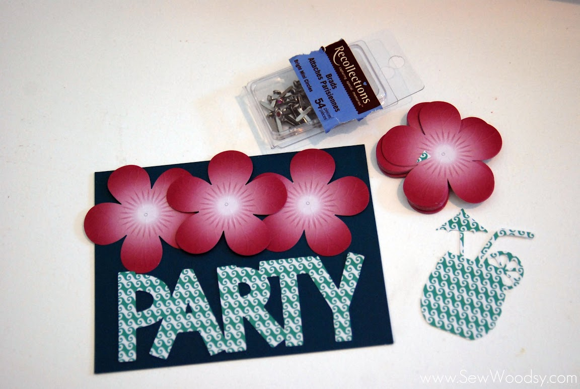 tropical party card
