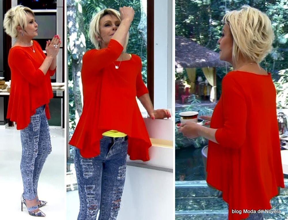 moda do programa Mais Você - look da Ana Maria Braga dia 26 de agosto
