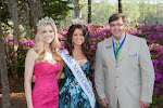 2014 Azalea Queen Kirsten Haglund, Celebrity Guest Johna Edmonds Miss North Carolina, President Steve Coble