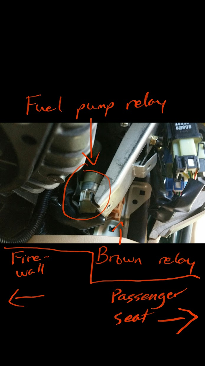03 05 How To Replace Fuel Pump Relay Or Just Locate Unplug 2013 Subaru Impreza Filter Location 5 Now You Have Located The If Are Disconnecting Crank Out Of System And Stop Here