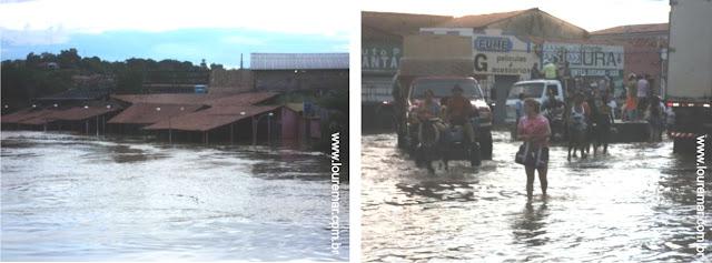 IMAGEM - Enchente do rio Mearim em Trizidela do Vale