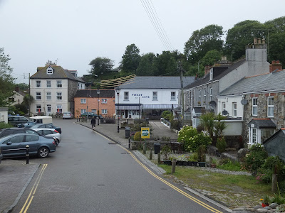 Pentewan, very much a holiday village these days
