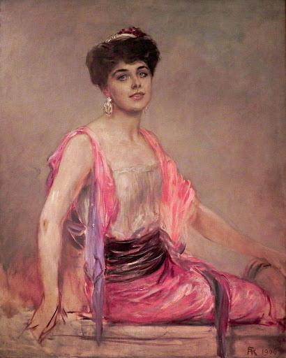 Friedrich August von Kaulbach - Studie zu einem Bildnis der Sängerin Geraldine Farrar