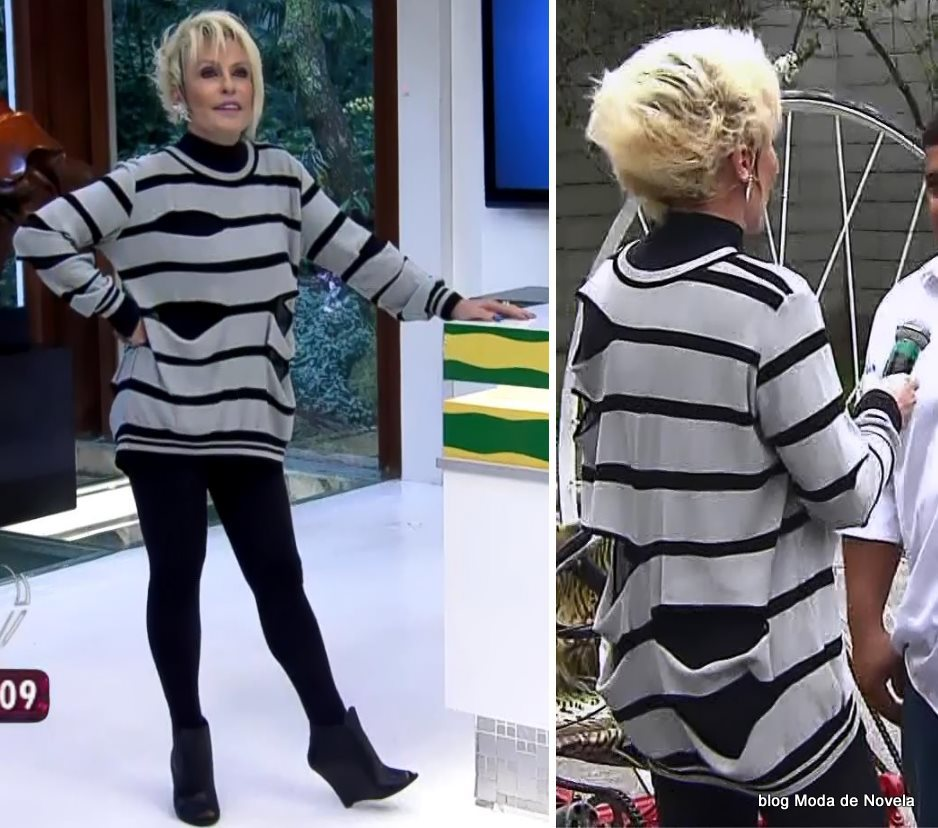 moda do programa Mais Você - look da Ana Maria Braga dia 10 de julho
