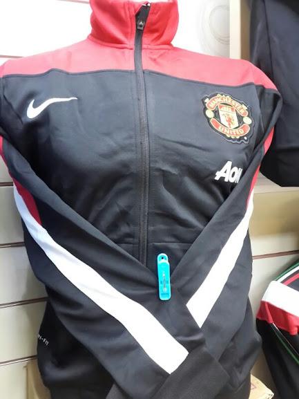 Jaket Manchester United Merah Hitam List Putih 2014