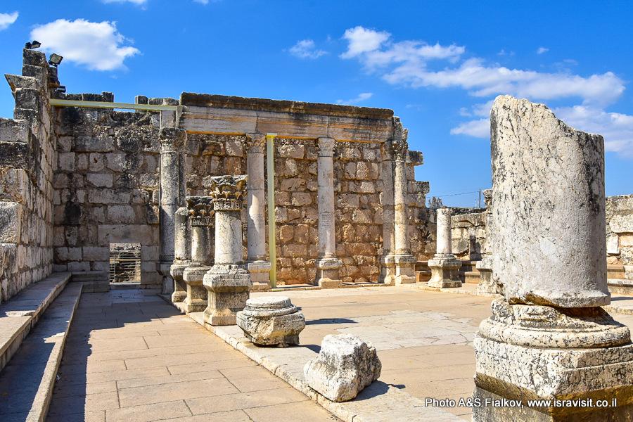 Капернаум. Белая синагога. Экскурсия по Галилее. Гид Светлана Фиалкова.