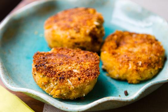 recipe: pumpkin and chickpea patties [18]