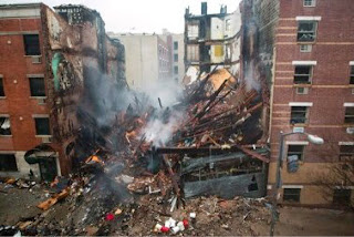 Explosion in New York levels building, Firefighters believe some were still trapped inside