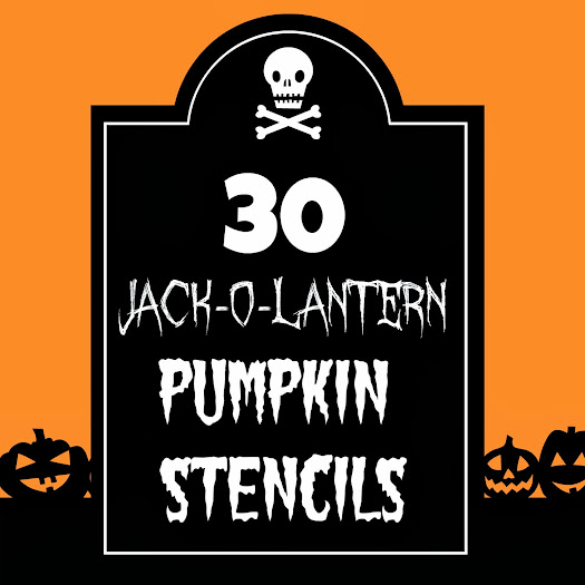 This is a picture of Amazing Jack O Lantern Stencil Printable