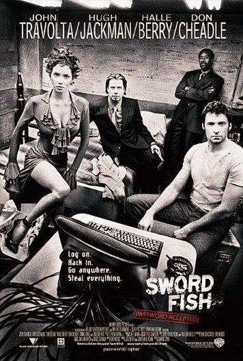 Poster Of Swordfish (2001) Full Movie Hindi Dubbed Free Download Watch Online At Alldownloads4u.Com