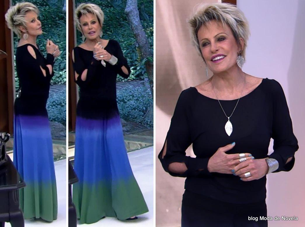 moda do programa Mais ocê - look da Ana Maria Braga