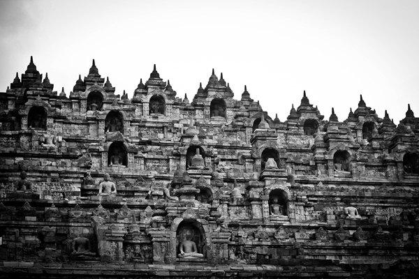 Borobudur in Monochrome