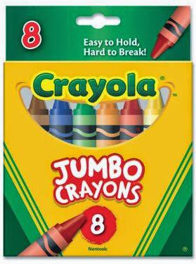 Bộ bút sáp 8 màu loại lớn Crayola được làm từ chất liệu an toàn