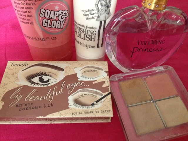 Top Five beauty products benefit soap and glory vera wang percy and reed topshop