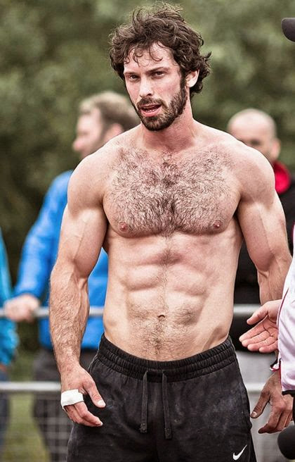 Hairy Chested Shirtless Muscular Hunks