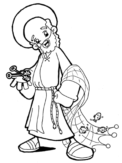 Saint Peter coloring pages