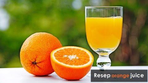 resep orange juice