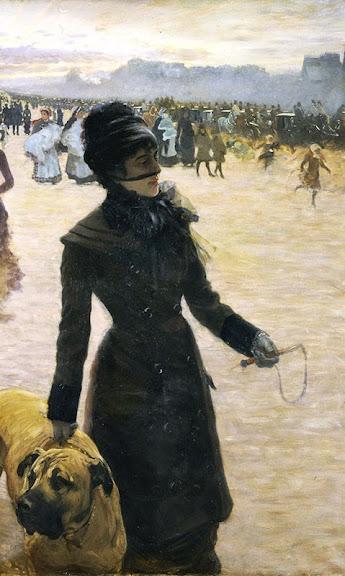 Giuseppe de Nittis - La signora col cane (Il ritorno dalle corse), 1878
