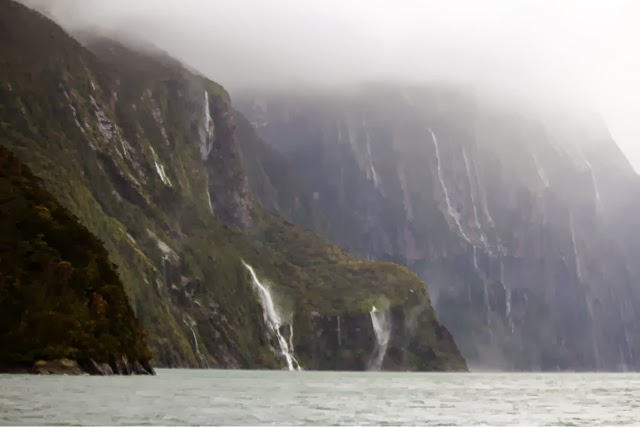 Milford Sound New Zealand Waterfalls