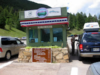 Pikes Peak Entrance, Colorado Springs, Colorado. $12 each person entrance fee.