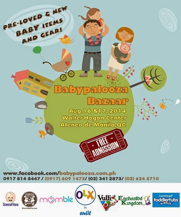 Babypalooza Bazaar on August 16 and 17, 2014