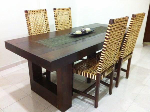 Thick Wooden Dining Table From Dubai